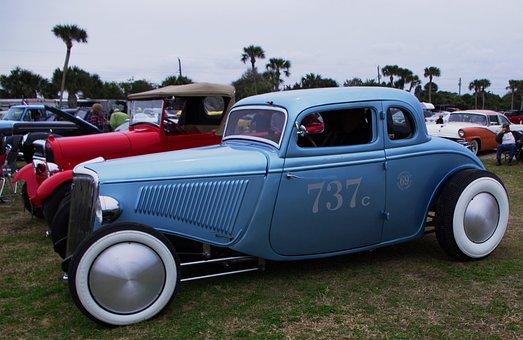 Car, Antique, Ford, Vintage, Old, Retro, Classic