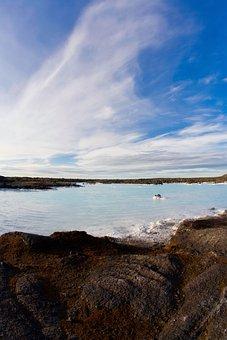 Blue, Lagoon, Iceland, Rock, Volcanic, Stone, Water