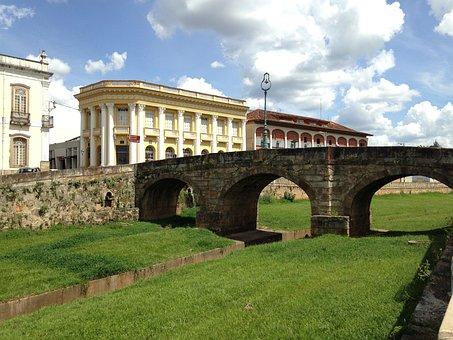 Bridge, Stone, Minas, Brazil, Old City, Old, Rock