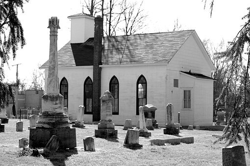 Church, Cemetery, Grave, Graveyard, Religion, Stone