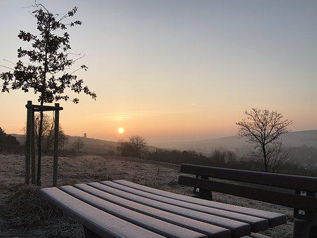Zellertal, Frost, Sunrise, Table, Winter, Cold