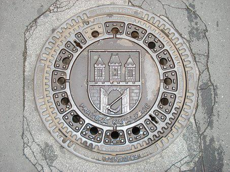 Prague, Czech Republic, Street, Europe, Urban Sewage