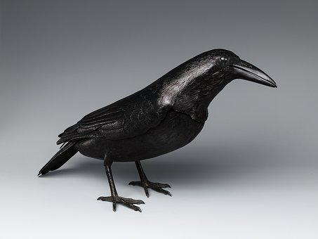 Raven, Artwork, Steel, Sculpture, Figure, Statue, Art
