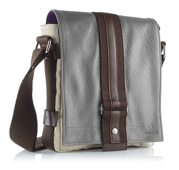 Bag, Leather, Grey, Man