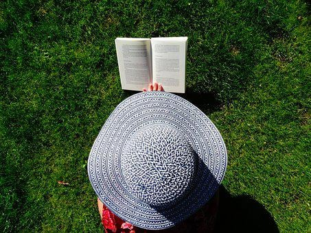 Hat, Garden, Read, Summer, Relax, Books, Grass, Book
