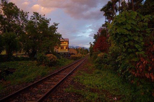 Train Railway, Taiwan, Rural, Country, Landscape