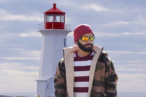 Portrait By The Lighthouse, Hipster, Trendy, Port