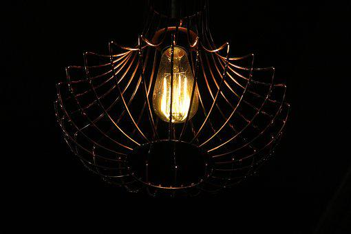 Light, Artisan, Hipster, Led, Brass, Lamp, Traditional