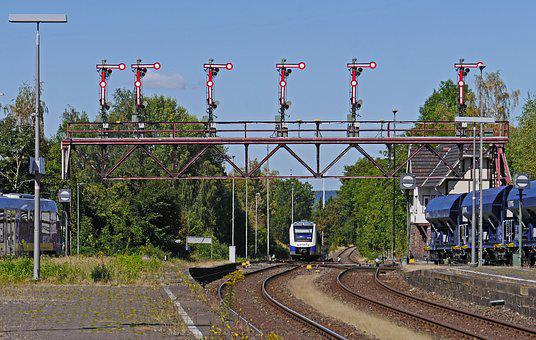 Railway Station, Bad Harzburg, Gantry