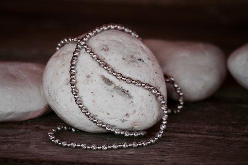 Necklace, Bracelet, Stones, White Gold, Jewelry