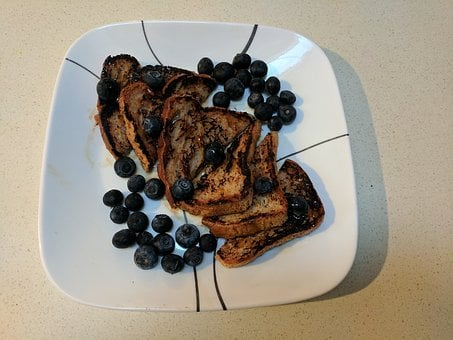 French Toast, Blueberries, Breakfast