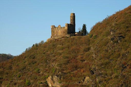 Rhine, Castle, Fortress, Wall, Battlements, Old Castle