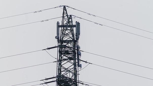 Current, Mast, Energy, Line, Power Line, High Voltage