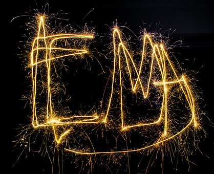 Long Exposure, Drawing, Sparkle, New Year, Playing