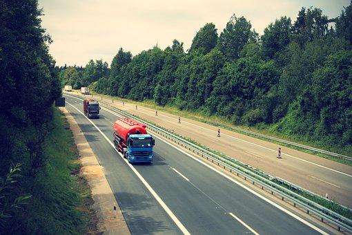 Truck, Highway, Logistics, Transport Of Goods, Germany