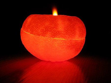 Orange Peel Oil Lamps, Oil Lamps, Lighting