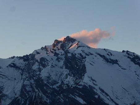 Mountain, Sunset, Landscape, Nature, Panorama, Natural