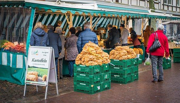 Farmers Local Market, Potato, Food, Healthy