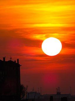 Nature, Landscape, Sun, Sunset, Lichtspiel, Venice