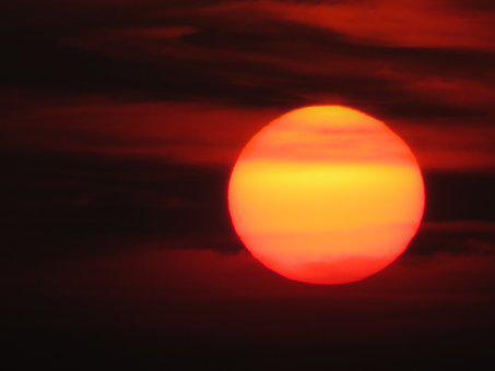 Nature, Landscape, Sun, Sunset, Lichtspiel, Color