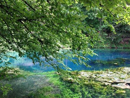 Blautopf, Blaubeuren, Water, Source, Stone, Church