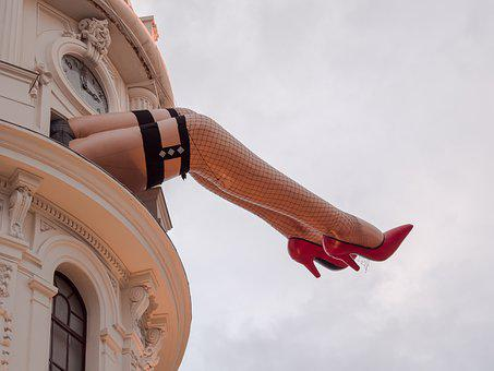 Legs, Theatre, Cabaret, Building, High Heels