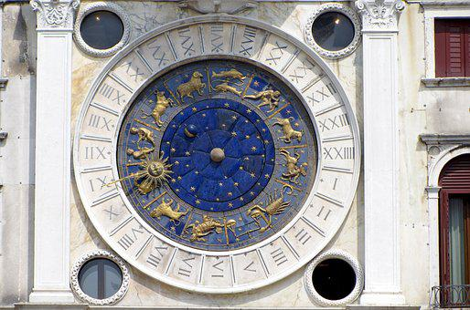 Venice, Italy, St Mark's Square, Clock, Astrology