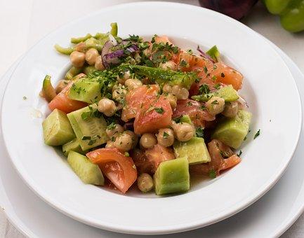 Vegetables Salad, Cucumber, Salad, Food, Healthy, Fresh