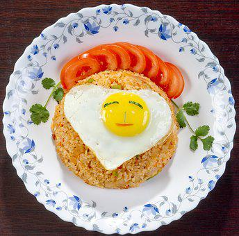 Food, Korean Cuisine, Rice With Fried Egg, Nutrition