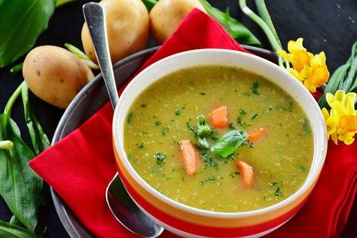 Potato Soup, Potato, Soup, Bear's Garlic, Edible, Food
