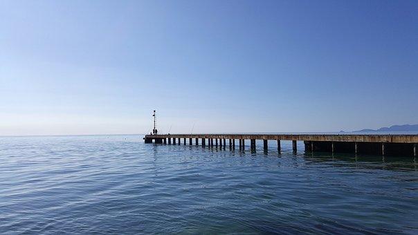 Sea, Pier, Water, Landscape, Forte Dei Marmi, Tuscany