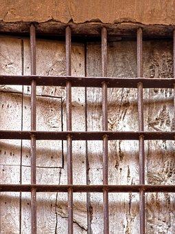 Grating, Window, Old, Wood, Little Window, Wrought Iron