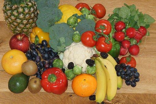 Vegetables, Fruit, Healthy, Nutrition, Vitamins, Food