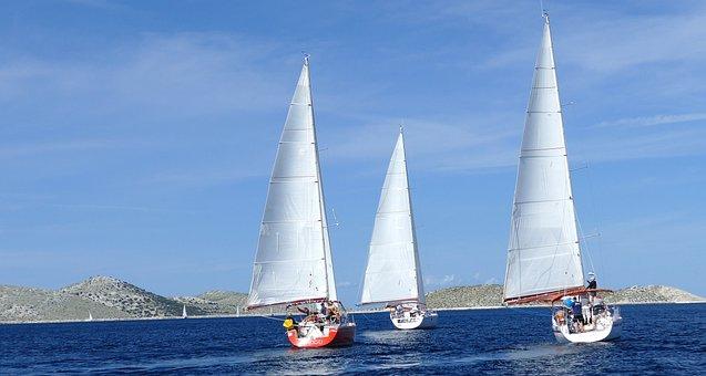 Sailboat, Yacht, Sea, Holidays, Water, Sailboats, Lake