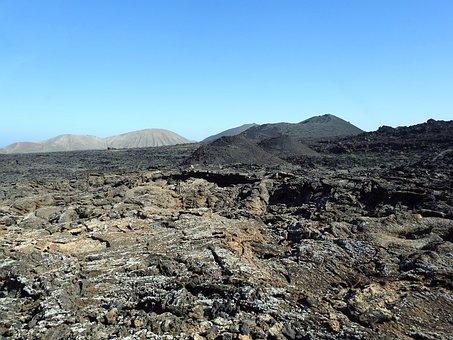 Lava Field, Volcanic Landscape, Timanfaya, Lanzarote