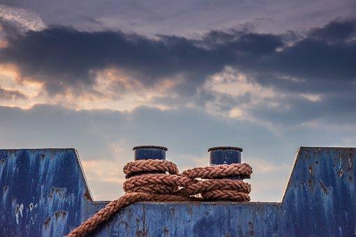 Ropes, Ship, Barge, Sea, Nautical, Boat, Marine, Ocean