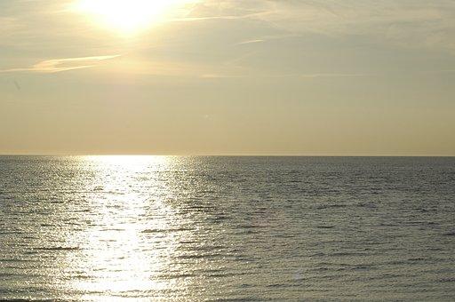 Ocean, Sea, Sunset