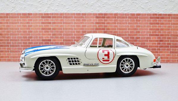 Model Car, Diorama, Oldtimer, Mercedes, 300sl, Gullwing