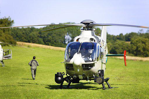 Helicopter, Pilot, Police, White, Rotor, Flight