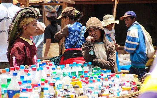 Poverty, Africa, Bottle Seller, Bottle, Culture