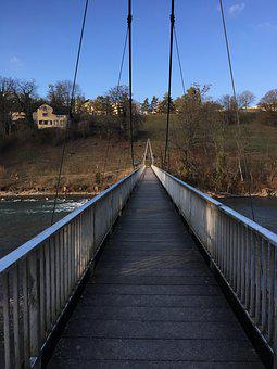 Bridge, Pedestrian Bridge, Away, River, Höngg, Zurich