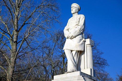 Sculpture, Von Moltke, Monument, Still Image