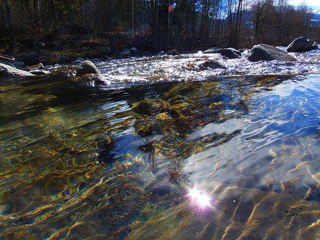 Water Courses, Water, Translucent, Light, Rocks