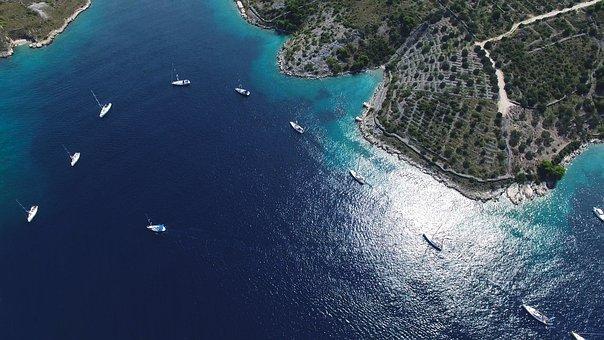 Bird's Eye View, Sea, Yachts, Water, Ships, Haven, Sail