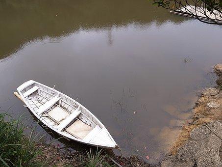Ship, Lake View, White