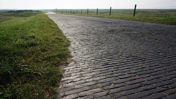 Cobblestones, Away, Wide, Landscape, Horizon, Freedom