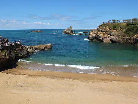 Biarritz, Sea, Seaside, France, Coast, Atlantic, Beach