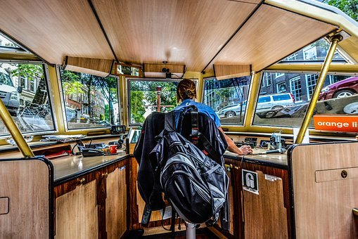 Amsterdam, Canal, Driver, Boat, Captain, Navigate
