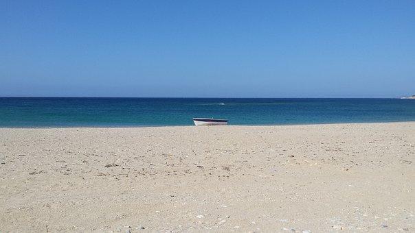 Sea, August, Greece, Holidays, Boat
