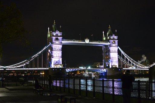 London, Tower Bridge, England, River, The River Thames